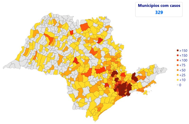 São Carlos e região tem explosão de 2171% nos casos confirmados do novo coronavírus