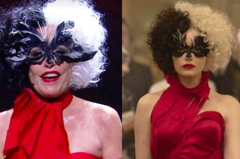 Ana Maria Braga aparece fantasiada de 'Cruella' no 'Mais Você'