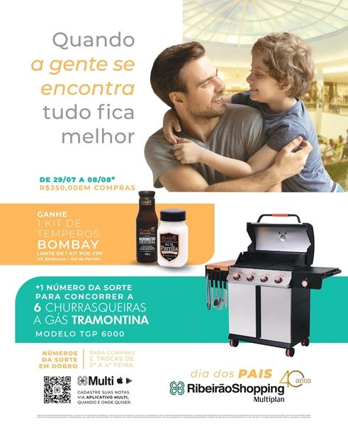 Campanha do RibeirãoShopping presenteia clientes com kit de temperos e sorteia churrasqueiras