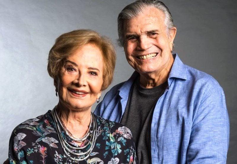 Gloria Menezes aparece publicamente pela primeira vez após morte de Tarcísio Meira