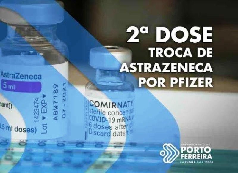 Pessoas com 2ª dose de AstraZeneca atrasada podem completar imunização com Pfizer
