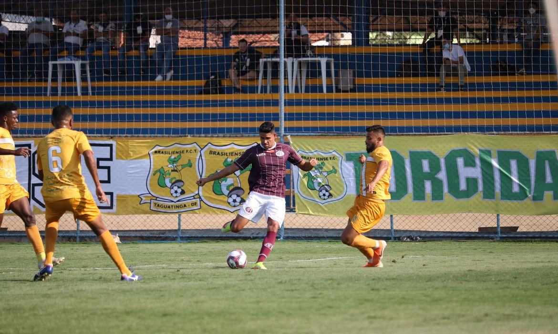 Brasiliense e Ferroviária ficam no 0 a 0 em jogo equilibrado